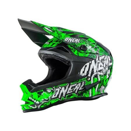 Oneal 7 Series Evo Menace Motocross Helmet Green