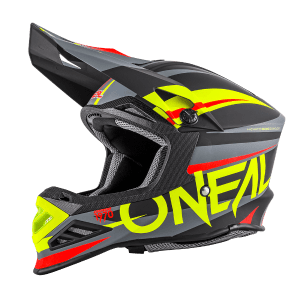 Oneal 8 Series Aggressor Motocross Helmet Black