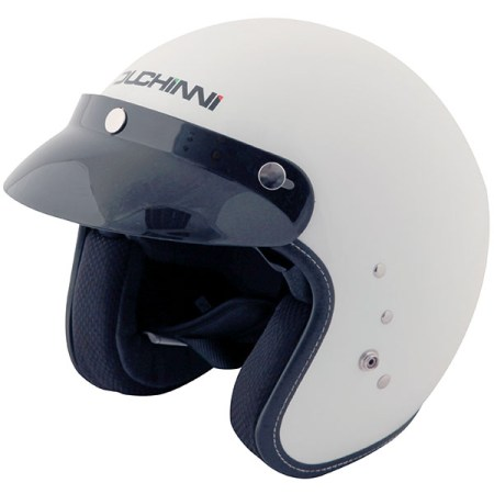 Duchinni D501 Open Face Motorcycle Helmet - White