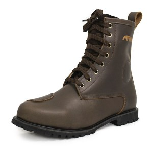Armr Moto Retoro Motorcycle Boots Brown