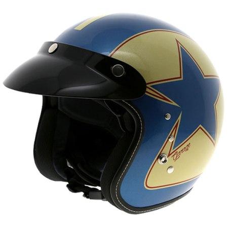 Duchinni D501 Garage Open Face Motorcycle Helmet - Blue