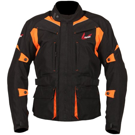 Weise Pioneer Motorcycle Jacket Orange