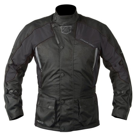 Akito Python Motorcycle Jacket - Black