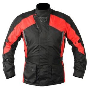 Akito Python Motorcycle Jacket Red