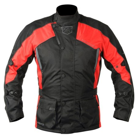 Akito Python Motorcycle Jacket - Red