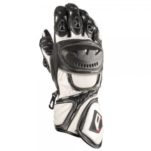 Akito Sport Max Motorcycle Gloves White