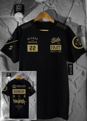Ride Rich GP T Shirt Gold