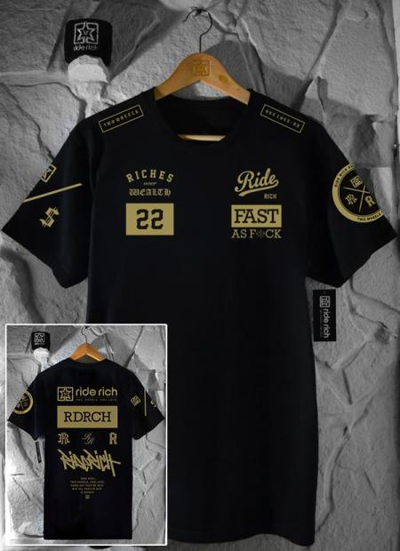 Ride Rich GP T Shirt - Gold