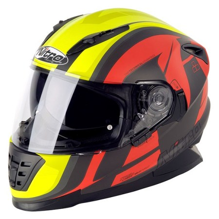 Nitro NRS-01 Pursuit Motorcycle Helmet - Matt Black