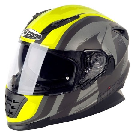 Nitro NRS-01 Pursuit Motorcycle Helmet - Matt Gun