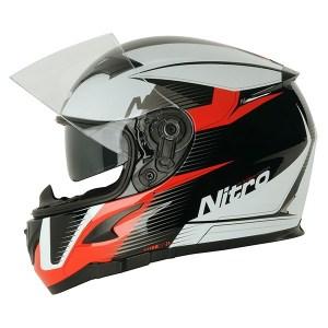 Nitro N2300 Rift Motorcycle Helmet Red