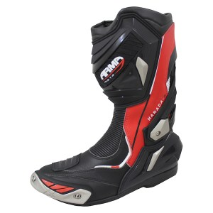 Armr Moto Harada R Motorcycle Boots Red