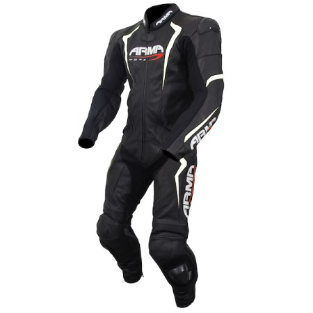 Armr Moto Harada S Leather Motorcycle Suit White