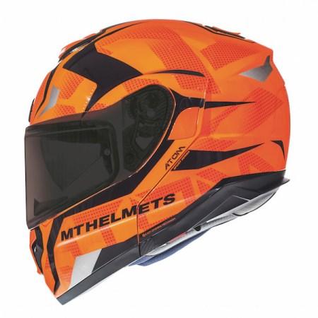MT Atom SV Divergence Motorcycle Helmet - Orange