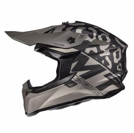 MT Falcon Karson Motocross Helmet Matt Black