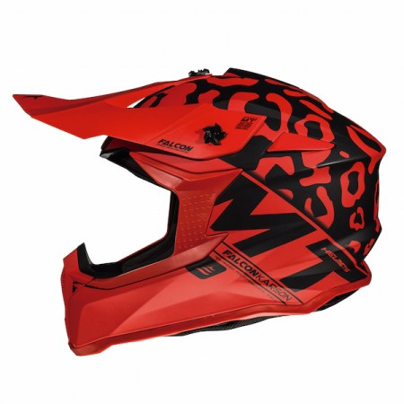 MT Falcon Karson Motocross Helmet - Matt Red