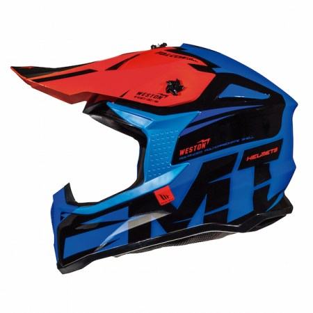 MT Falcon Weston Motocross Helmet - Blue