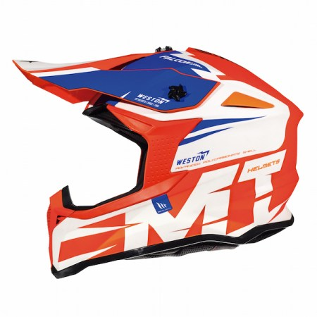 MT Falcon Weston Motocross Helmet Orange
