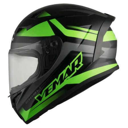Vemar Ghibli Base Motorcycle Helmet - Green