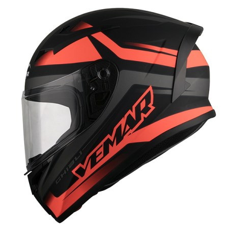 Vemar Ghibli Base Motorcycle Helmet - Orange