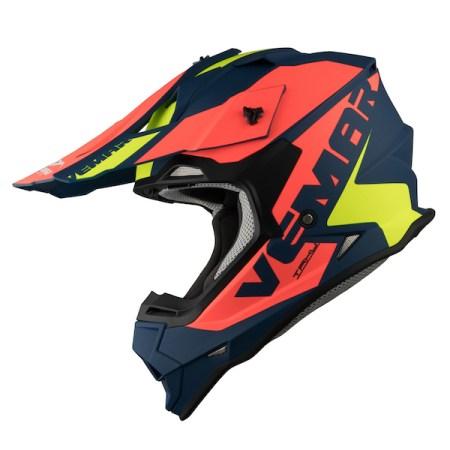 Vemar Taku Blade Motocross Helmet - Matt Navy