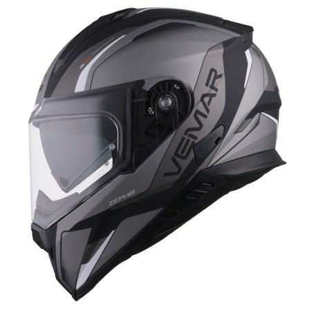 Vemar Zephir Lunar Motorcycle Helmet Matt Silver