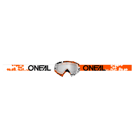 B-10 Goggle PIXEL orange/white - clear