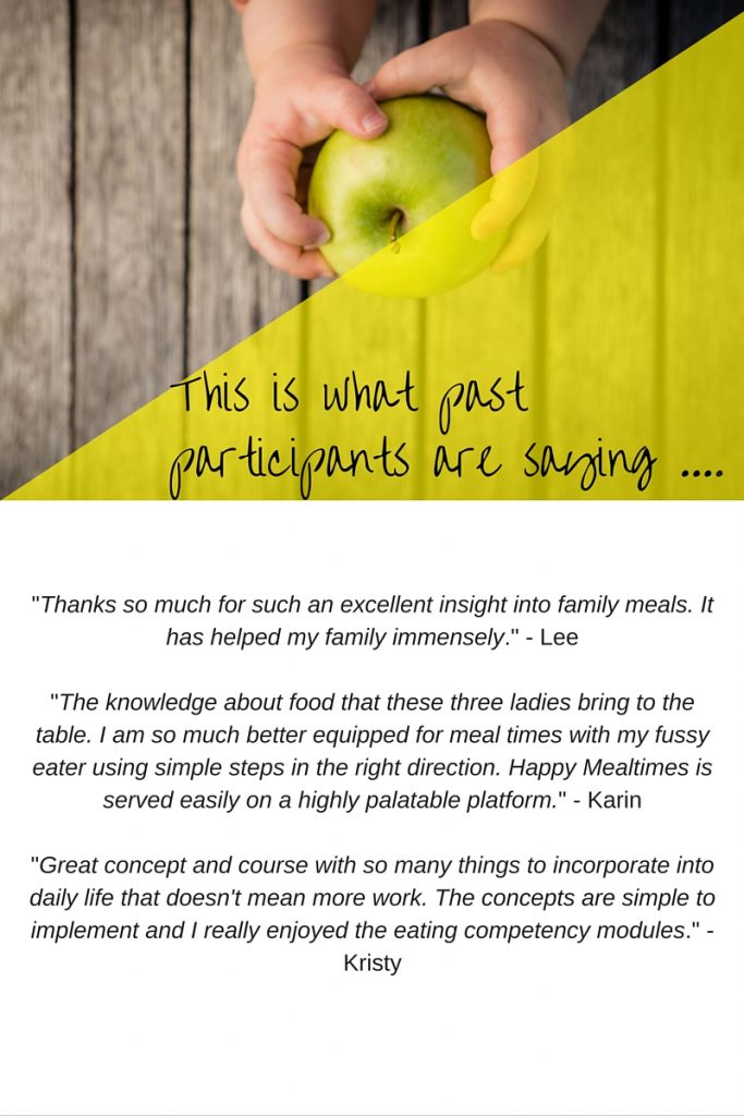 Testimonials for Happy Mealtimes eCourse by Play with Food