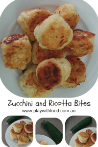 Zucchini and Ricotta Bites by Play with Food