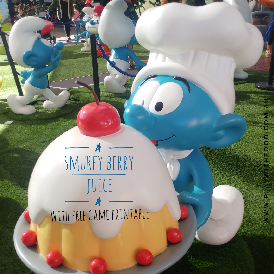 Smurfy Berry Juice and Free Printable Game Card - Perfect to Entertain the Kids   Play with Food by Simone Emery