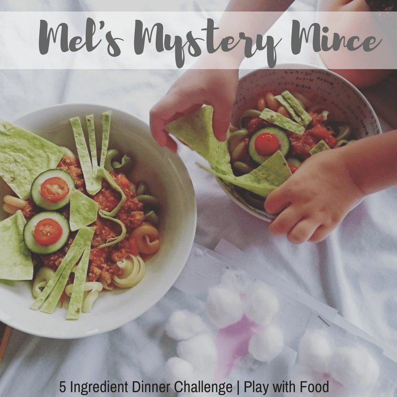 5 Ingredient Dinner Challenge - Mel's Mystery Mince - Play with Food #familymeals #fussyeater #pickyeater