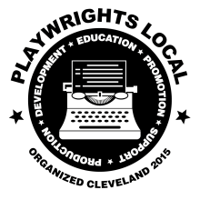 Playwrights Local Logo Inverted black on white