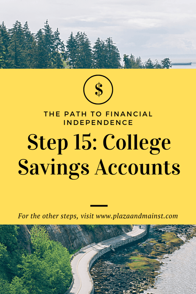 College savings plan path to FI