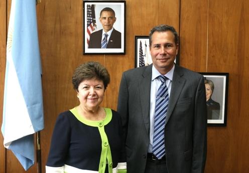 Nisman y embajadora