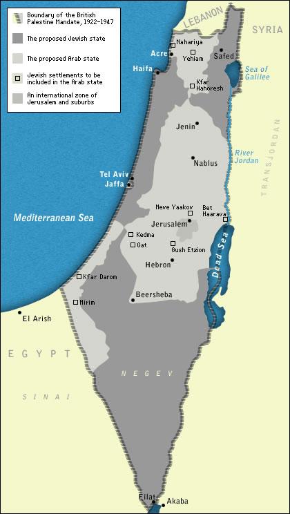 Esta fue la propuesta no aceptada por los árabes en 1947