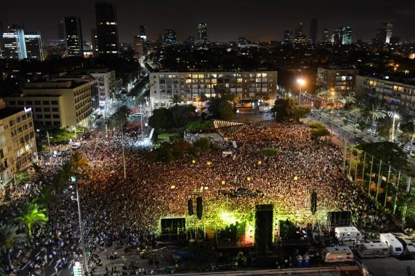 Manifestación por la paz en Tel Aviv