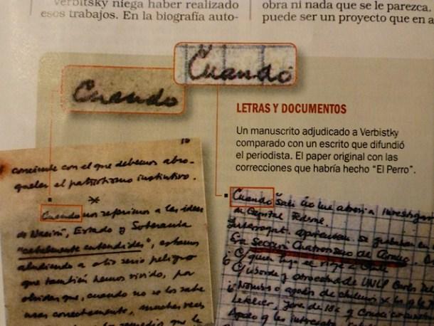 A simple vista se percibe la similitud manifiesta entre el texto ofrecido por Verbitsky para refutar en la revista Notidias y el original del discurso