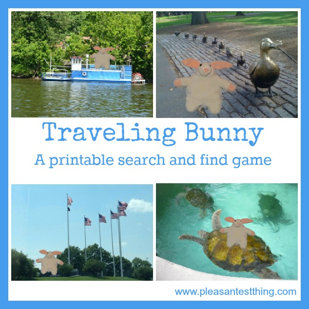 Traveling bunny: a printable search and find game for kids