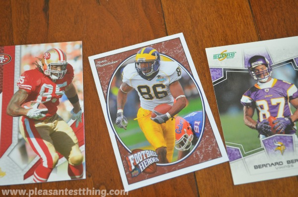 Play math games using your sports card collection