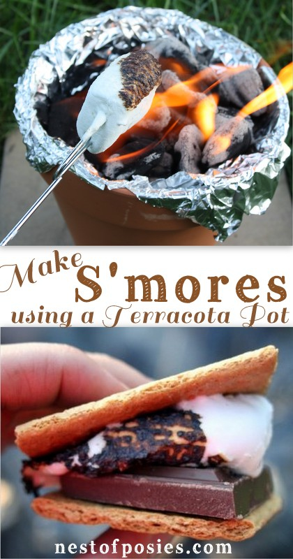 Make S'Mores in a terracotta pot ~ Nest of Posies