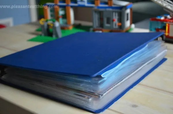 simple storage for LEGO manuals