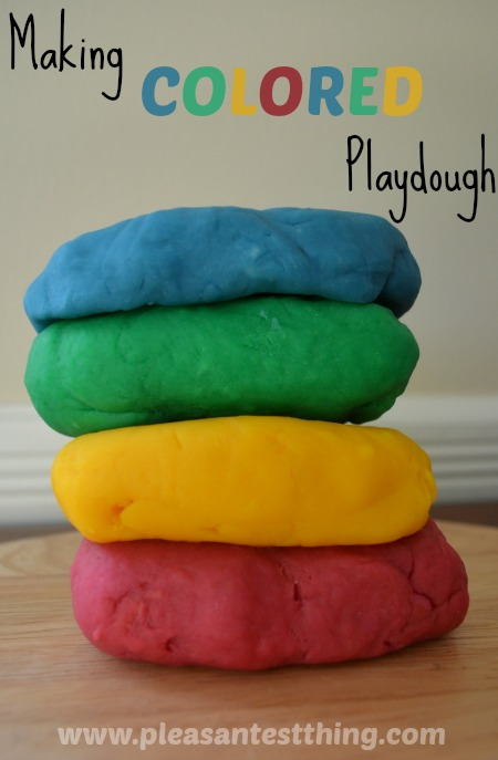 Color your own playdough