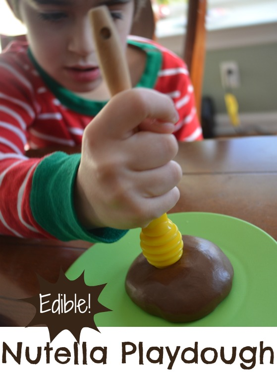 How to make edible Nutella playdough