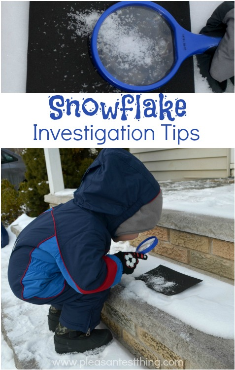 Combine Science and Snow Play with Snowflake Investigations!