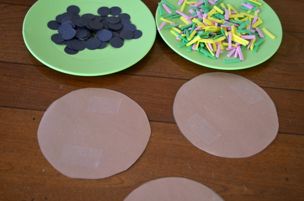 Make sticky cookies! Fun toddler craft!