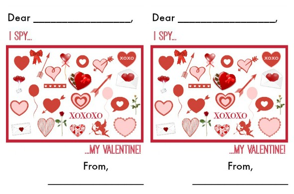 I Spy Valentines Day Printable