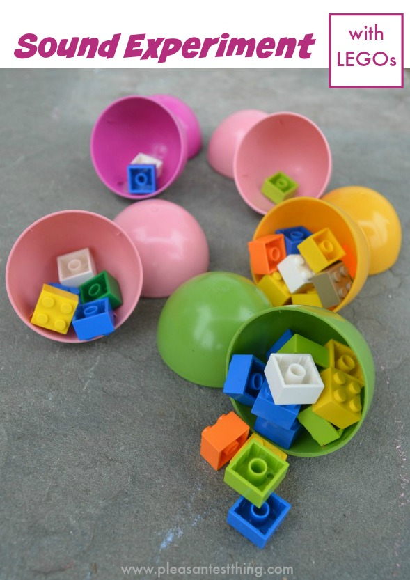 LEGO Sound Experiment! Use plastic eggs for a fun science activity!