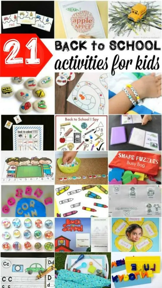 21 Back to School Activities for Kids - free printables, games, crafts, busy bags, and activities kids will love!