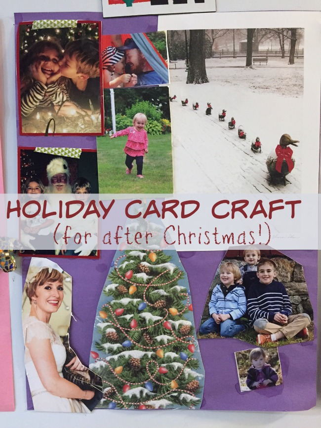 Craft using this year's Christmas Cards!