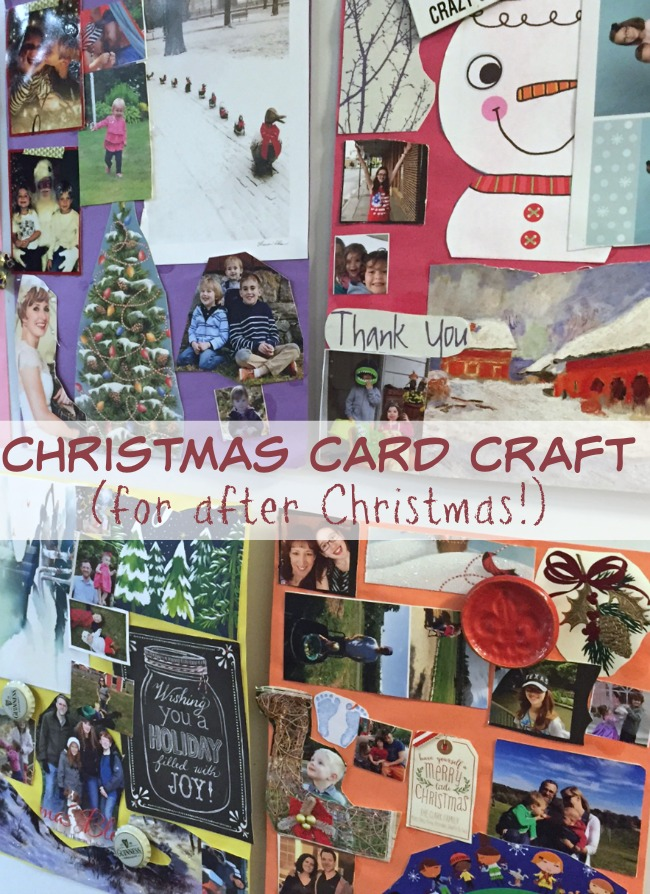 Christmas Card Craft - For After Christmas! Fun project for kids and great way to use the Christmas cards from friends and family!